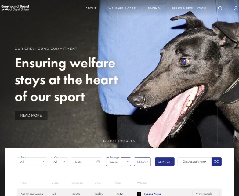 Greyhound Board of Great Britain, ensuring welfare stays at the heart of our sport